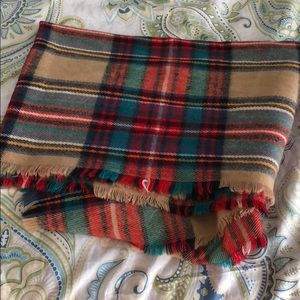 Merona plaid winter scarf